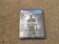 Brand new sealed PS4 unchartered 4 a thiefs end - includes bonus material