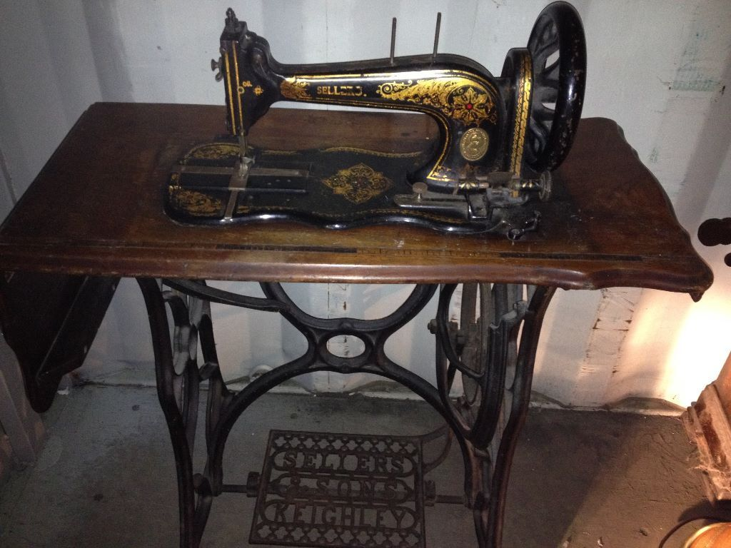 Vintage Sellers And Sons Stitchwell 1880s Sewing Machine
