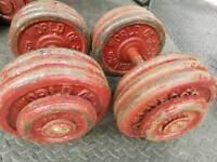 Commercial fixed dumbbells 2 x 35 kg