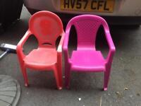 Child garden chairs
