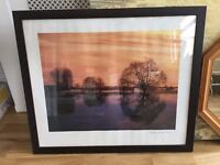 Dark frame country scene picture