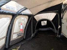 Kampa Ace Air Pro 400 inflatable awning and bedroom annex