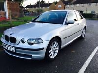 BMW 316Ti Compact, 2003, 1.8 ltr Petrol, 66k mileage F.Service History, Mot, P/X Welcome