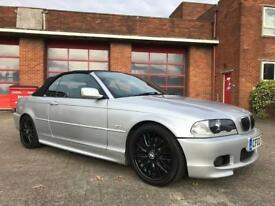 IMMACULATE E46 BMW 330CI SPORT AUTO CABRIOLET CONVERTIBLE AUGUST 2018 MOT!!