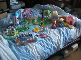 Peppa Pig Bundle fairground, play area`s , camper etc etc