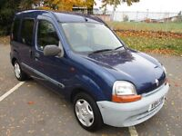 2000 X RENAULT KANGOO 1.4 RN LOW 81K FULL MOT DISABILITY RAMP WITH ELECTRIC WINCH LOVELY PX SWAPS