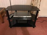 Glass TV Stand plus DVD Player