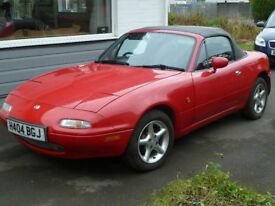 Mazda mx5 mk1 lovely unmolested, family owned for 19 years, 1 previous owner.