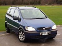 2003 Vauxhall Zafira 1.8 i 16v Club 5dr 7 SEATER