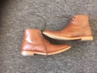 Sole trader brown leather boots