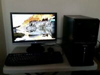 PC, monitor and keyboard/mouse