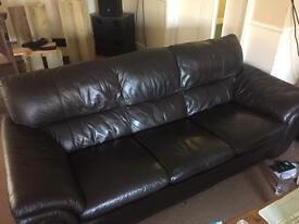 Dark brown 3 Seater Sofa