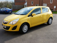 Vauxhall Corsa 2011 61(1.2 16V) 5 doors Yellow Just serviced, only 44k Check it!