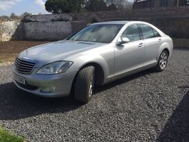 Mercedes S320CDI. Silver on black. FSH and no advisories
