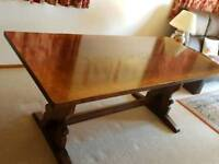 Titchmarch & Goodwin Refectory Table & Four Chairs + Two Carrer Chairs