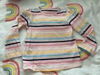 18-24 months pink stripe top