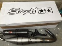 stage 6 exhaust scooter tuning piaggio zip runner nrg dna 50/ 70