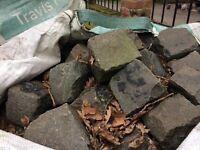 Granite stone cobbles