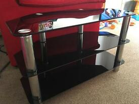 Glass TV unit (Black)