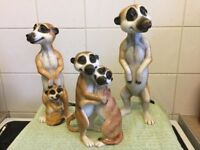 SET OF MEERKATS ORNAMENTS by PETS WITH PERSONALITY