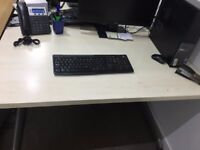Pale Wooden Desk. Ideal for at home or in an office.
