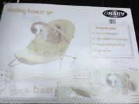 OBaby Bouncer Cream Seat. Clean excellent condition smoke free home Original packaging and extras