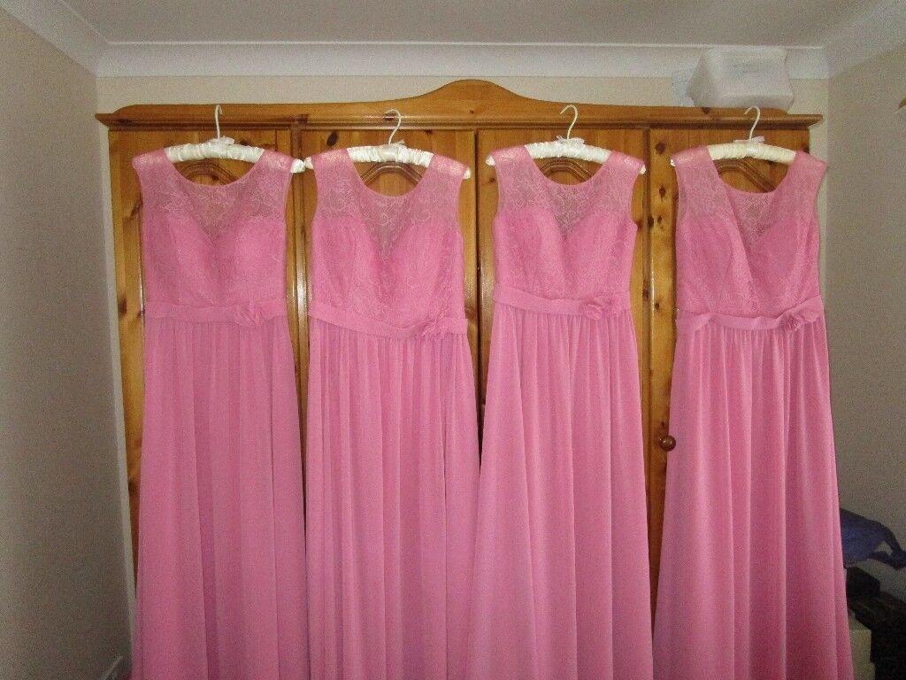 4 beautiful Alexia bridesmaid dresses (208L) in Rose. | in ...