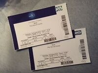 2 x Bros tickets, 19 August, O2
