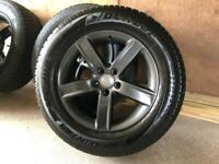 Genuine Audi Alloys with winter tyres.