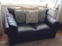 Comfy Two Seater Leather Sofa
