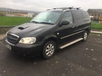 kia sedona 2.9 diesel AUTOMATIC 12 MONTHS MOT CAT C FULLY REPAIRED LEATHER INTERIOR DVD PLAYER £999