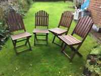 Wooden Folding Garden Chairs