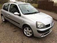 Stunning 2005 05 Renault Clio 1.2 Dynamique 3Dr **2 Owners+Only 80000+Mot Mar 2017+Low Insurance**