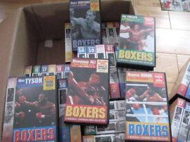 72 VHS BOXING VIDEOS