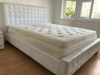 King Size Bed Frame And Memory Foam Mattress from Dreams RRP £2,200