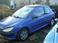 peugeot 206 VERY LONG MOT 1.1cc cheap tax and insurance.clean and tidy for year