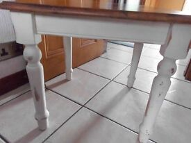 Small pine shabby chic table...