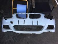 Bmw 2011 e92 e93 alpine white facelift front bumper with damage