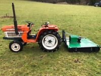 Kubota B1600 2WD Compact Tractor with New Topper Mower, 20HP, 750 Hours