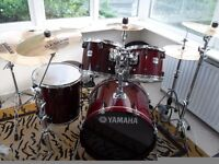 Yamaha stage custom advantage drum kit with Sabian Pro Sonix cymbals and Pearl double bass pedal