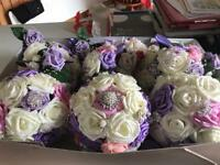 5 SETS OF BROACHED BRIDAL BOUQUETS ( 1/2 PRICE ) see colours below