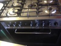Indesit Silver Range Gas Cooker..90cm. Mint