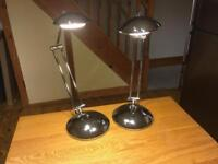 Four Boxes of Northern lights - Desk Lamps Chrome