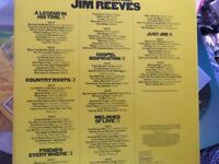 Box set of Jim Reeves records box, slight damage but records excellent condition.