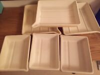 6 developing trays, 3 (10 x 12 inch) and 3 (7 by 9 inch)