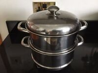 2 Steamer Pots with Lid