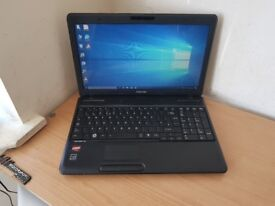 Toshiba Laptop Microsoft Windows 7 Office 4GB RAM Wifi 160GB HDD