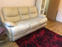Amazing three seat leather sofa (only 1.5 year old)