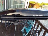 Halfords Exodus Aerodynamic black Roof Box Luggage roof bars and quick fitting brackets
