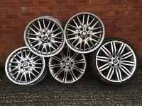 Job Lot 5 x bmw alloy wheels 18 mv1 splits & mv2 3 series & rear 19 inch Spyder e60 5 series Spider
